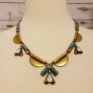 J.Crew Factory Gold & Jewel Necklace